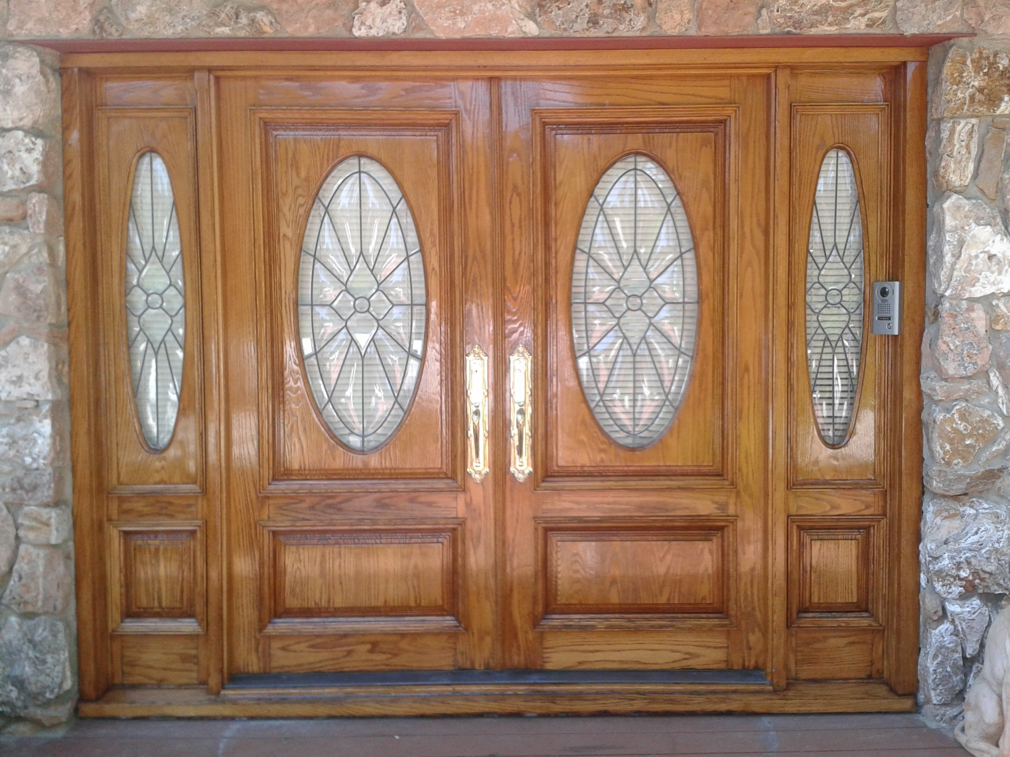 Stained Door After