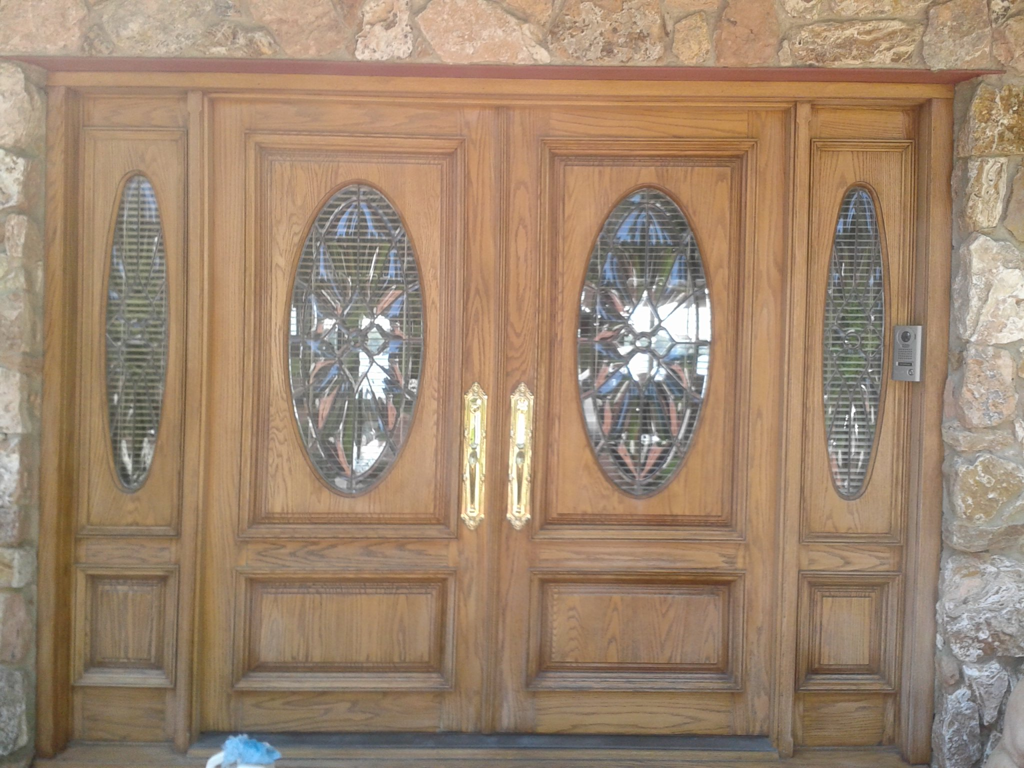 Stained Door Before